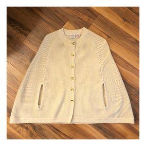Vintage Penguin Poncho w/Arm Holes! Wool/Cashmere